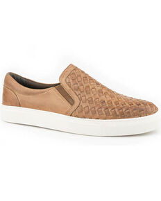 Roper Men's Link Woven Slip-On Shoes, Tan, hi-res
