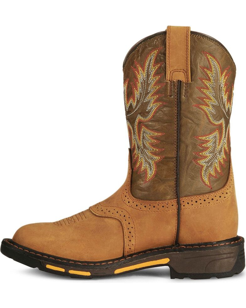 Ariat Kid's Workhog Work Boots, Aged Bark, hi-res