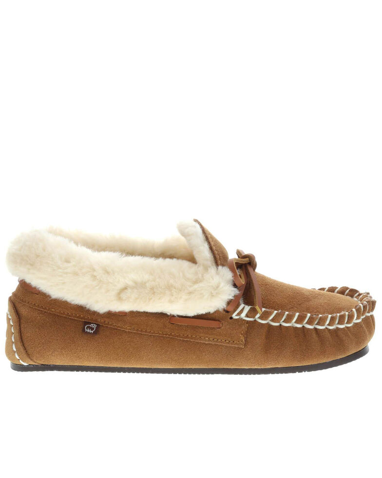 Lamo Footwear Women's Mila Chestnut Slippers - Moc Toe, Chestnut, hi-res