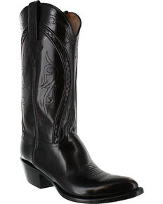 Lucchese Men's Embroidered Western Boots, Black Cherry, hi-res