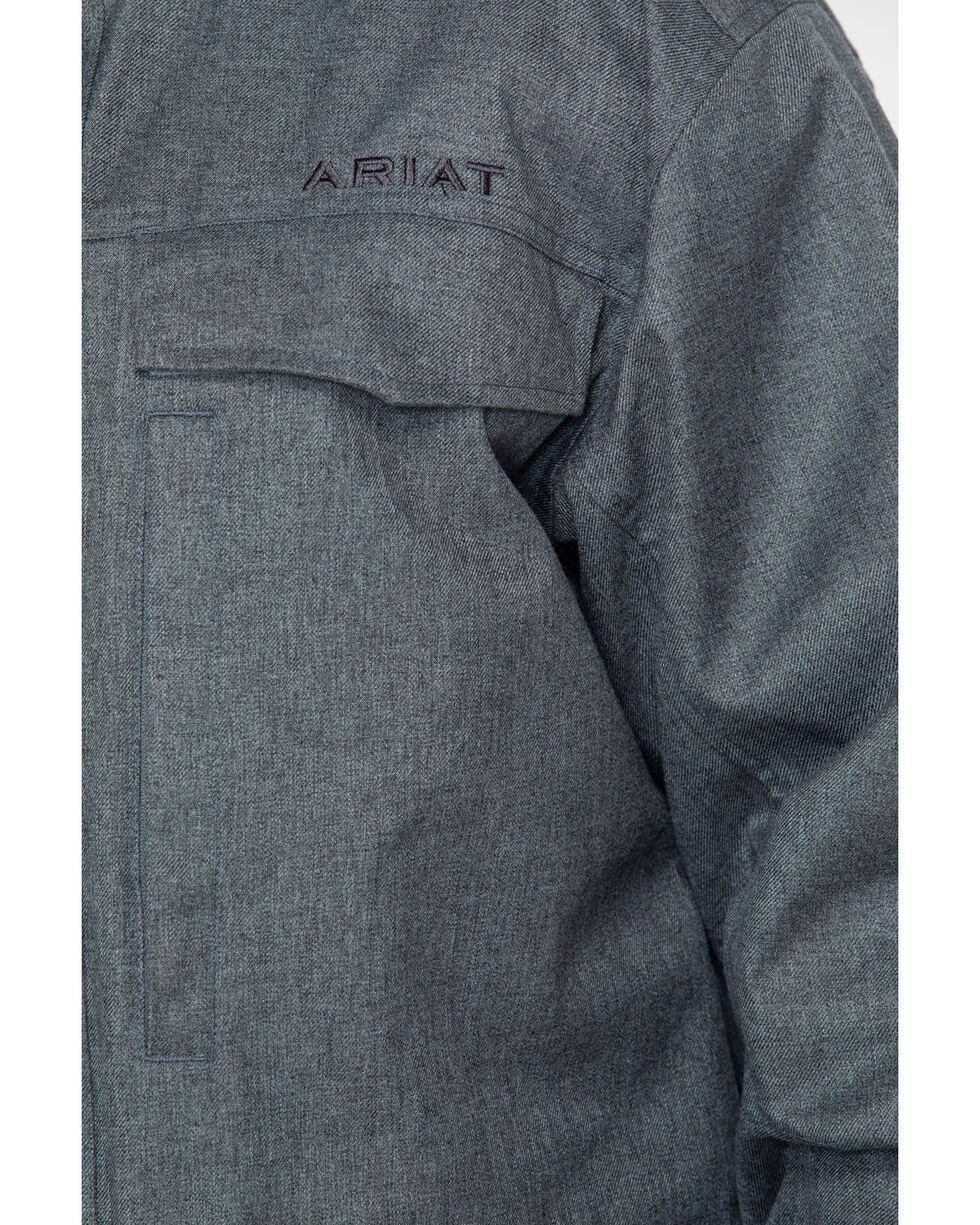 Ariat Men's Wyatt Sealed Faux Wool Parka , Charcoal, hi-res