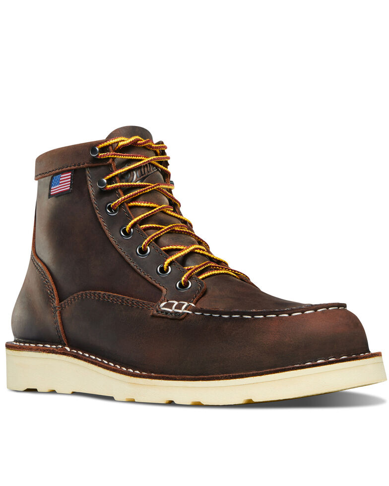 Danner Women's Bull Run Work Boots - Steel Toe, Brown, hi-res