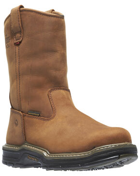 Wolverine Men's Marauder Steel Toe Wellington Work Boots, Brown, hi-res