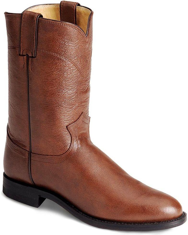 """Justin Men's 10"""" Corona Roper Boots, Tan, hi-res"""