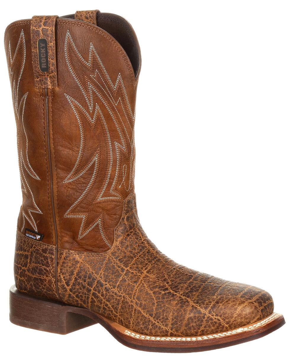 Rocky Men's Dakota Ridge EH Waterproof Work Boots - Steel Toe, Dark Brown, hi-res
