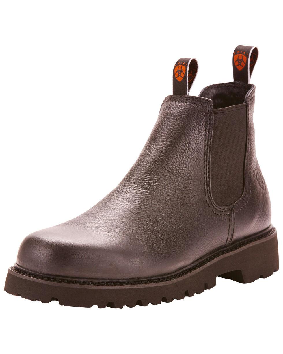 Ariat Men's Rugged West Spot Hog Boots - Round Toe, Black, hi-res