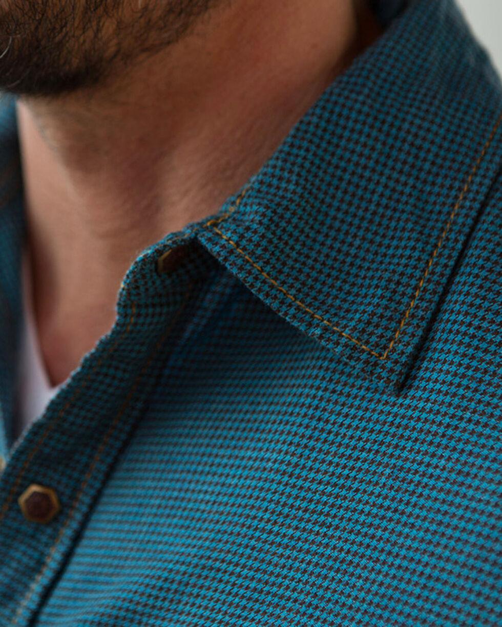 Ryan Michael Men's Heather Hounds Tooth Shirt  , Blue, hi-res