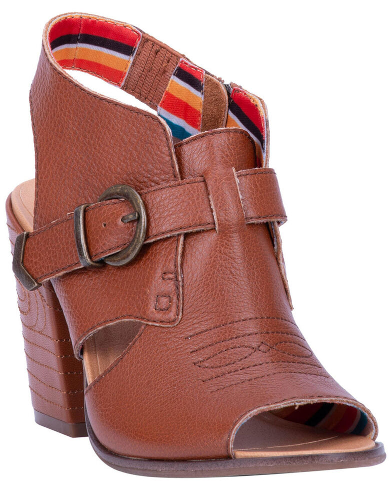Dingo Women's Stirrup Fashion Booties - Round Toe, Cognac, hi-res