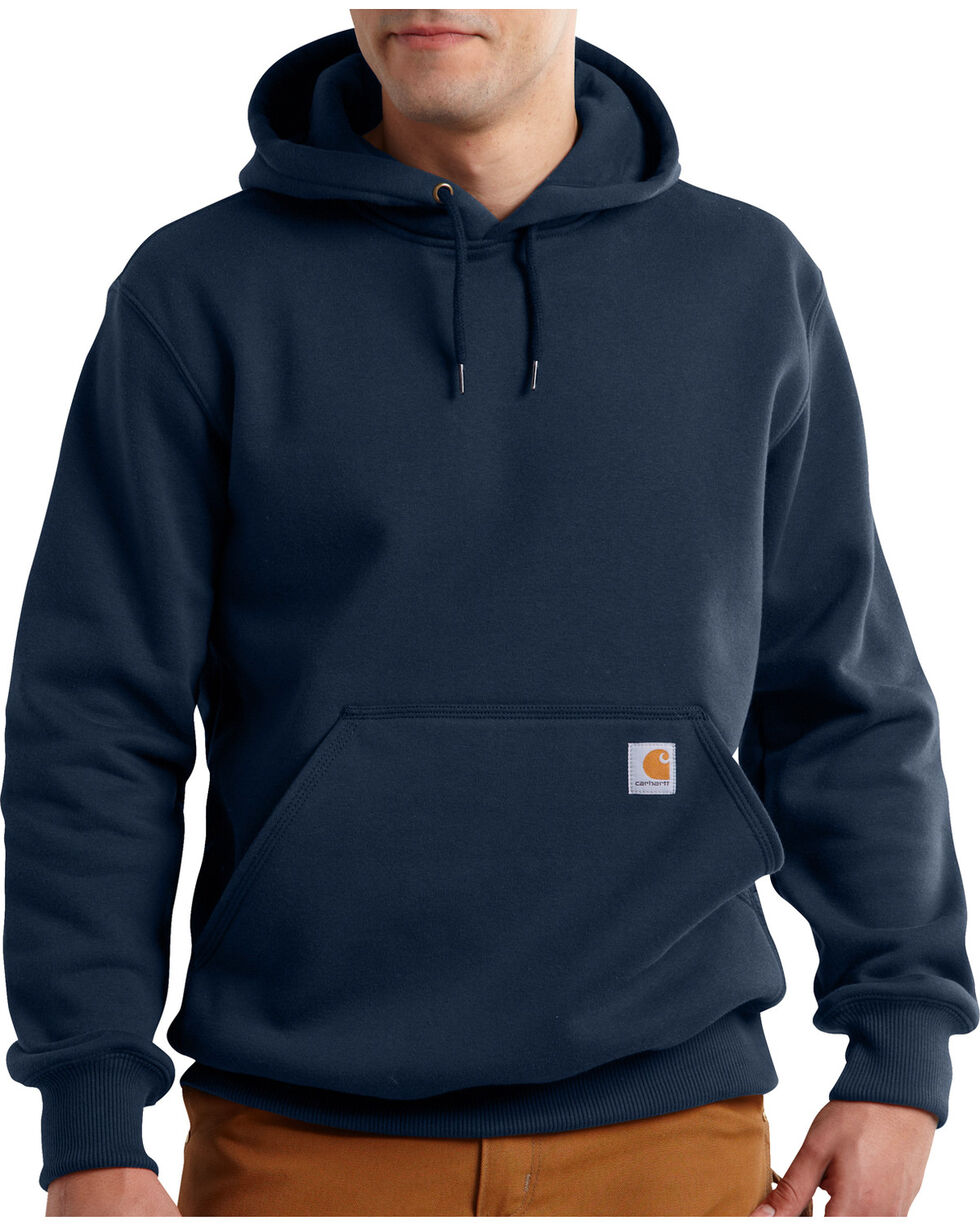 Carhartt Men's Rain Defender Paxton Heavyweight Hooded Sweatshirt, Navy, hi-res