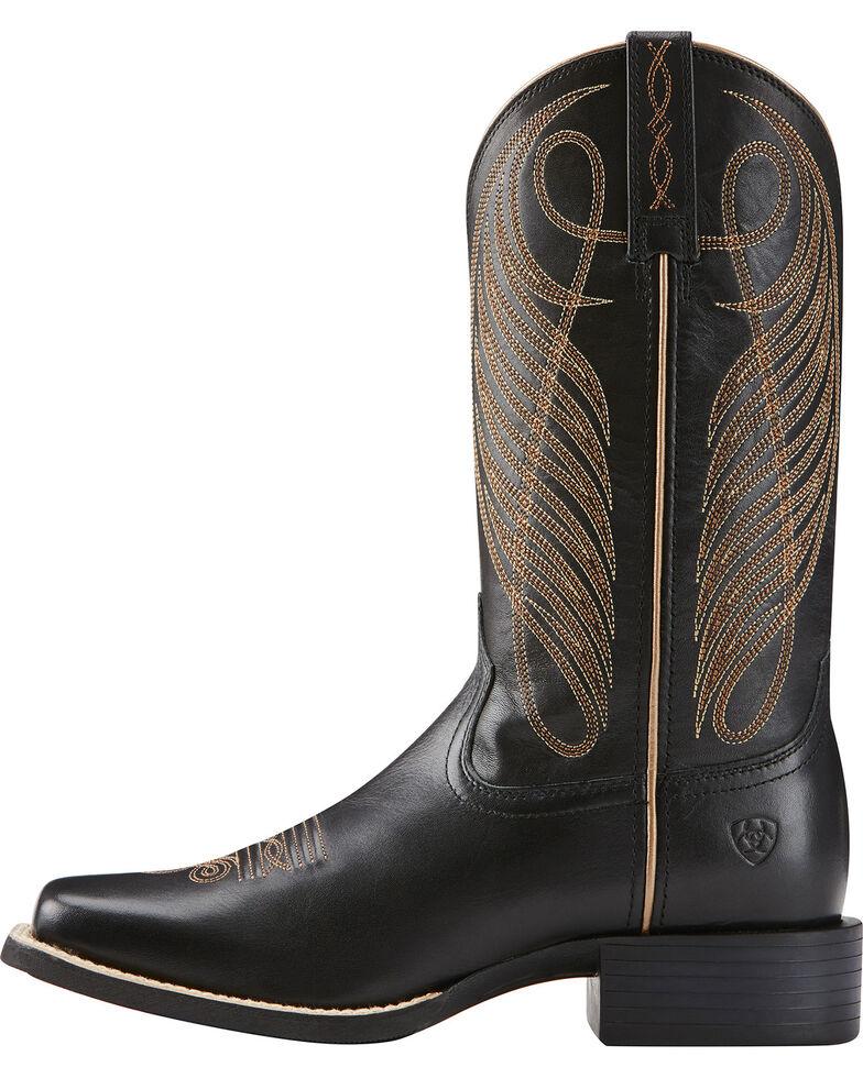 Ariat Women's Round Up Western Boots, Black, hi-res