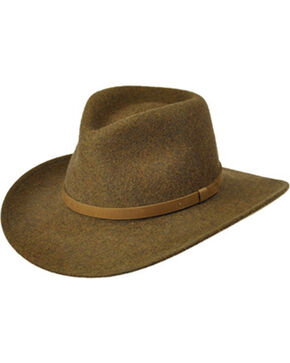 Master Hatters Men's Olive Commuter Crushable Hat, Olive, hi-res