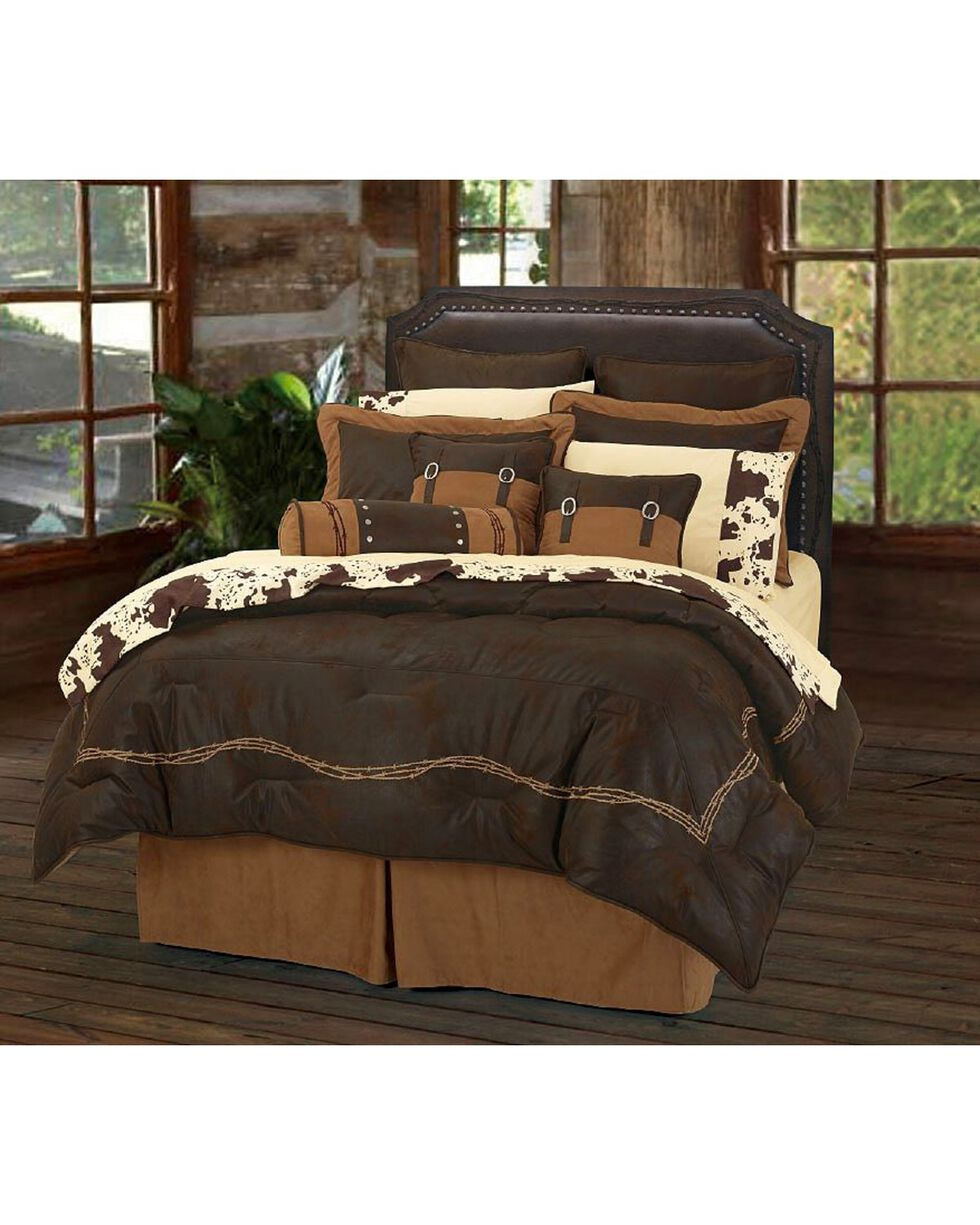HiEnd Accents Embroidered Barbwire 7-Piece King Comforter Set, Multi, hi-res