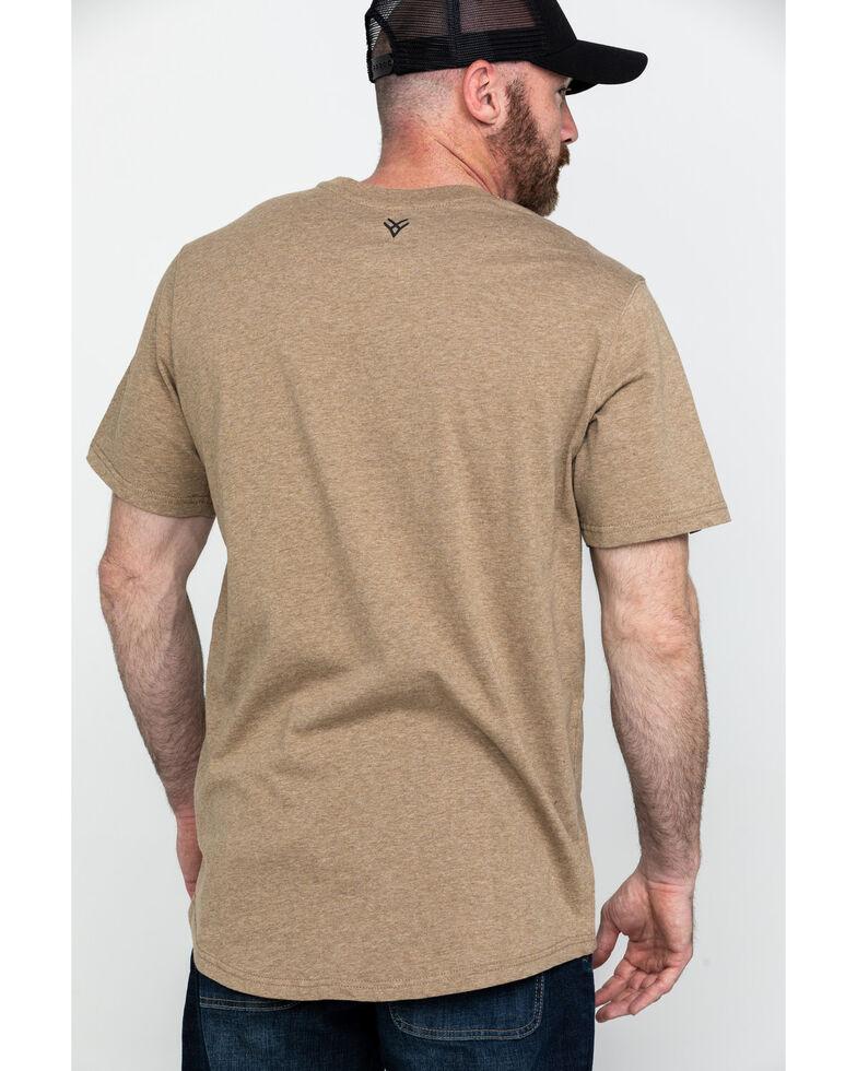 Hawx Men's Pocket Crew Short Sleeve Work T-Shirt , Tan, hi-res