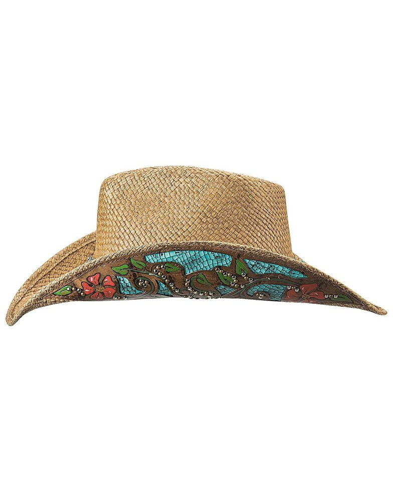 Bullhide Women's I Trust Myself Straw Hat , Natural, hi-res