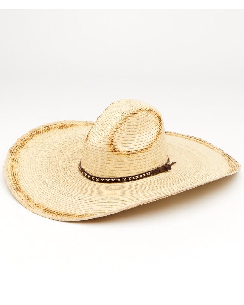 Cody James Guatemalan Gus Palm Straw Western Hat , Natural, hi-res
