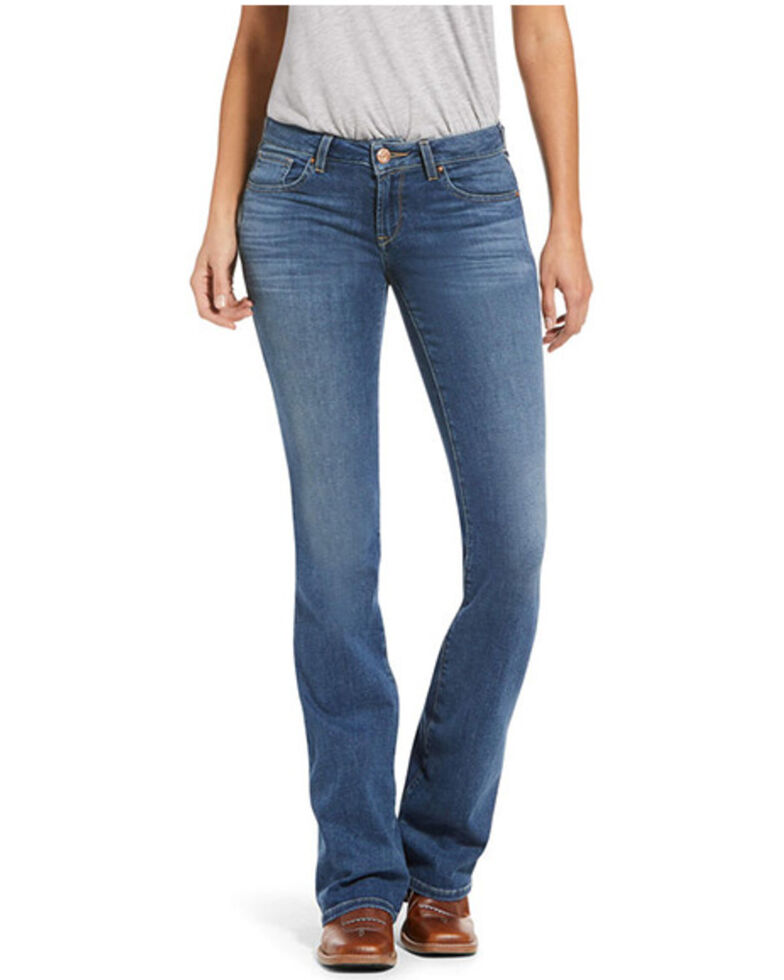 Ariat Women's Ultra Stretch Lauren Boot Cut Jeans, Blue, hi-res