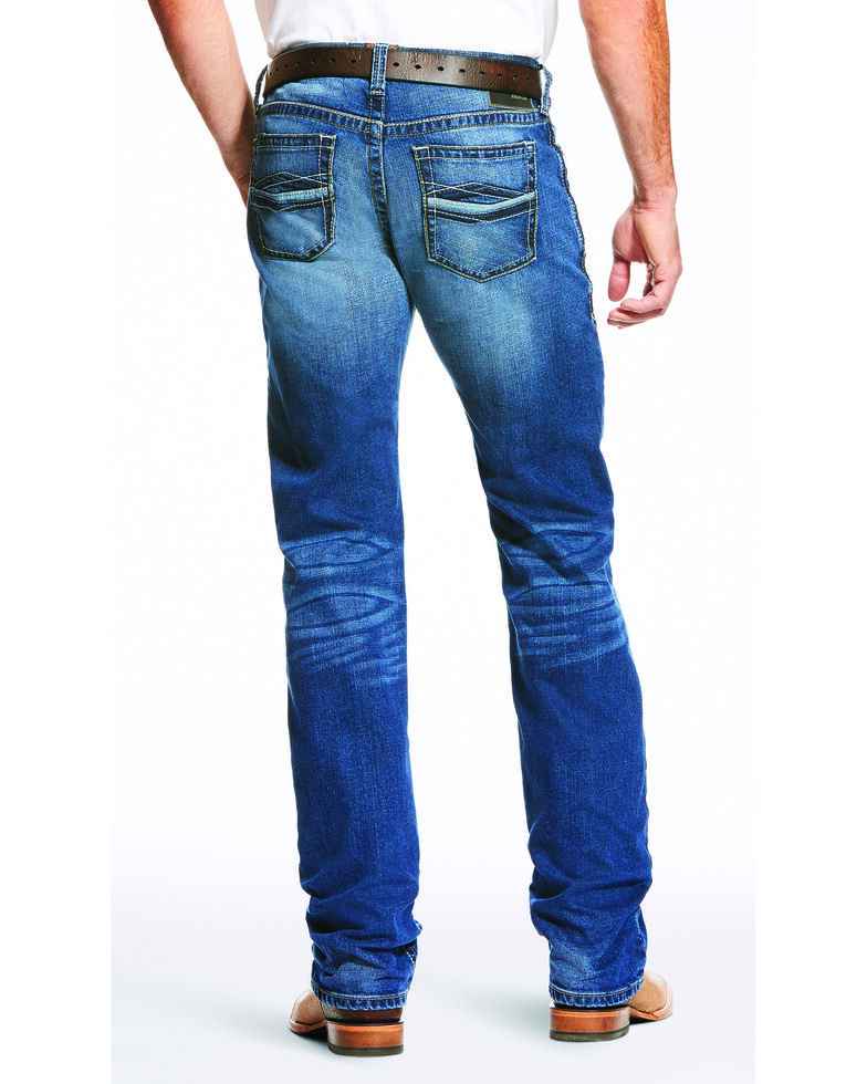 Ariat Men's Blue M7 Rocker Low Stretch Straight Jeans , Blue, hi-res