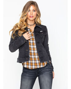 Wrangler Women's Modern Heritage Denim Jacket , Black, hi-res