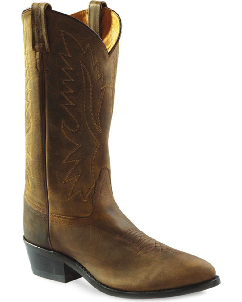 "Jama Men's Polanil 13"" Western Boots, Distressed, hi-res"
