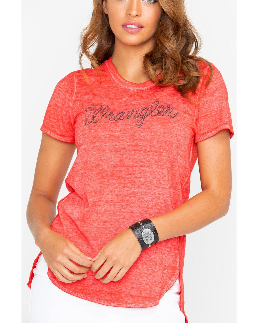 Wrangler Women's Red Rope Logo Fashion Tee , Red, hi-res
