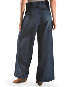 Tractr Women's Paper Bag Wide Leg Pants , Indigo, hi-res