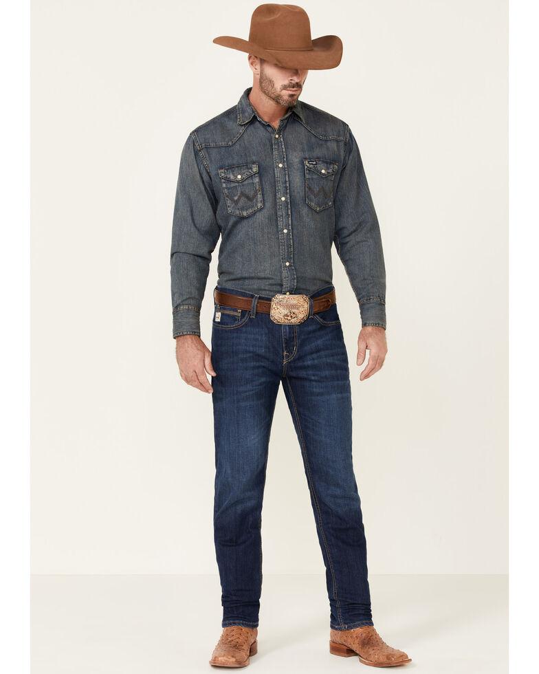 Cinch Men's Jesse Performance Dark Stone Stretch Slim Straight Jeans , Indigo, hi-res