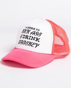 Shyanne Women s Kick Ass   Drink Whiskey Trucker Cap 9345f54386