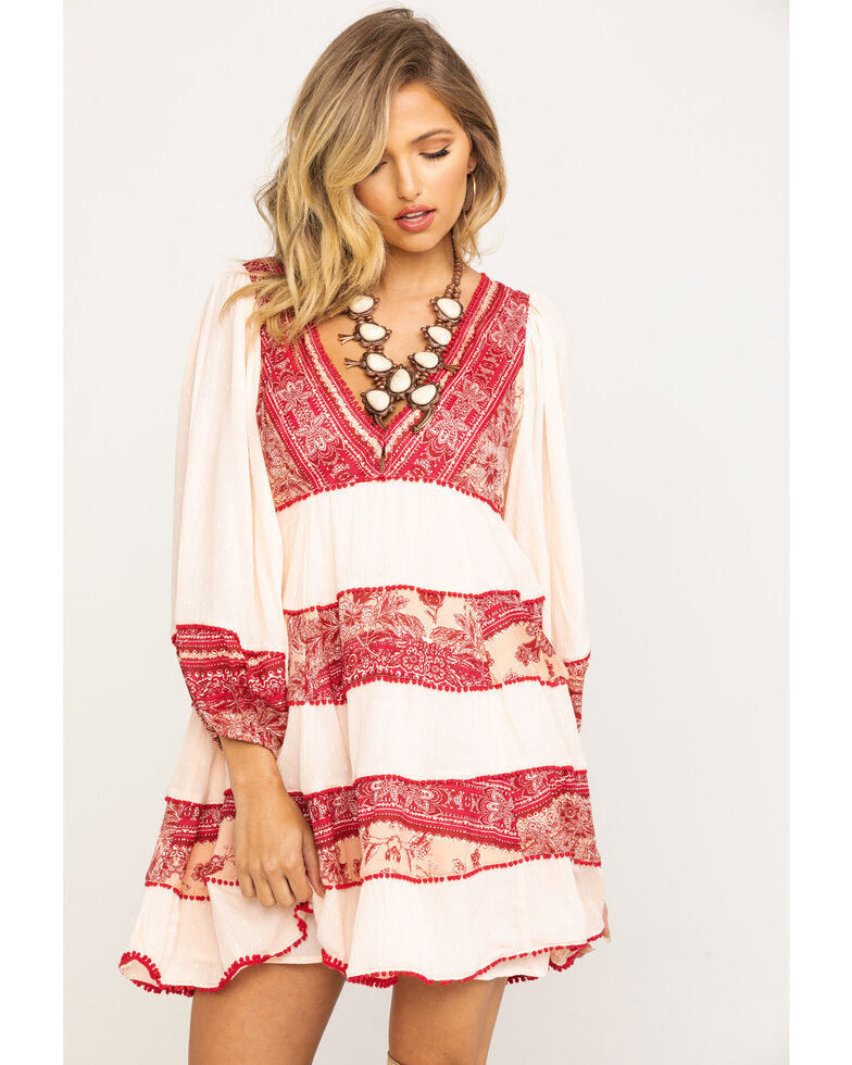 Free People Women's My Love Mini Dress, Pink, hi-res