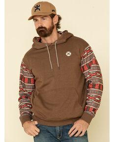 HOOey Men's Brown Aztec Nomad Hooded Sweatshirt , Brown, hi-res