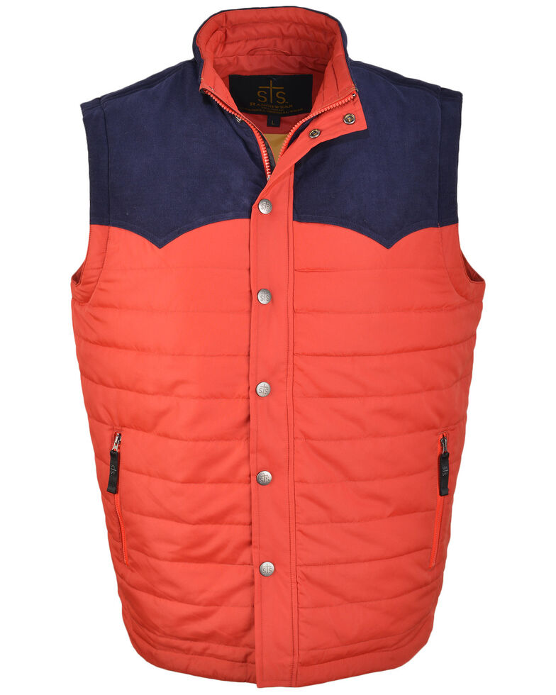 STS Ranchwear Men's Red Lightweight River Vest , Red, hi-res