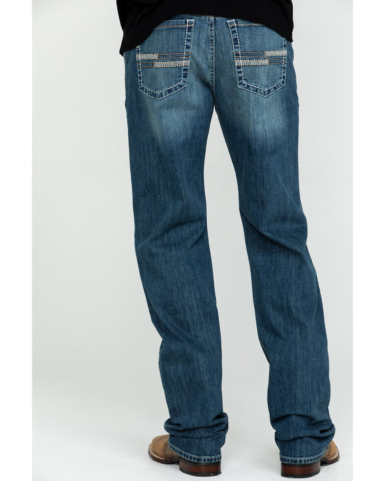 Cinch Men's Grant Medium Stonewash Mid Relaxed Boot Jeans , Indigo, hi-res
