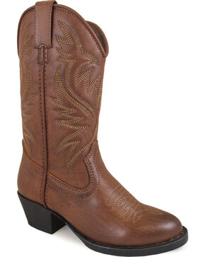 Smoky Mountain Youth Girls' Trenton Western Boots - Medium Toe , Brown, hi-res