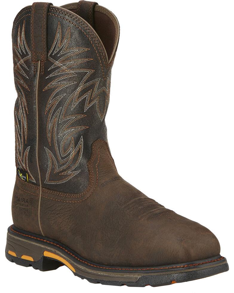 30126516986 Ariat Men's Workhog Waterproof Comp Toe Met Guard Work Boots