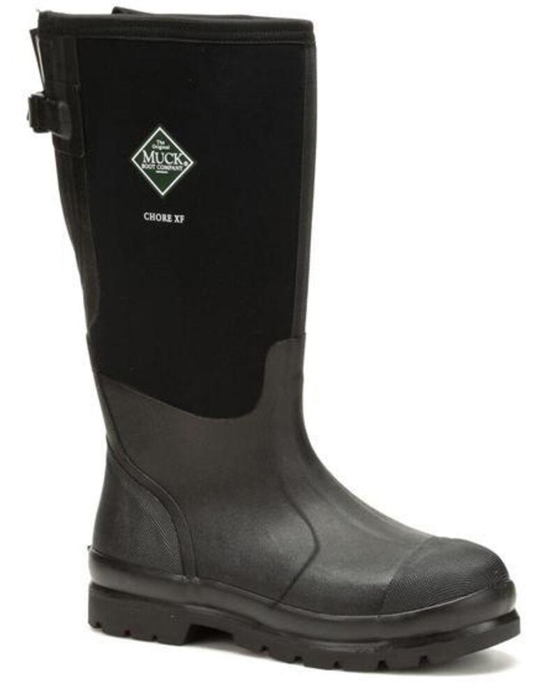 Muck Boots Men's Chore Rubber Boots - Round Toe, Black, hi-res