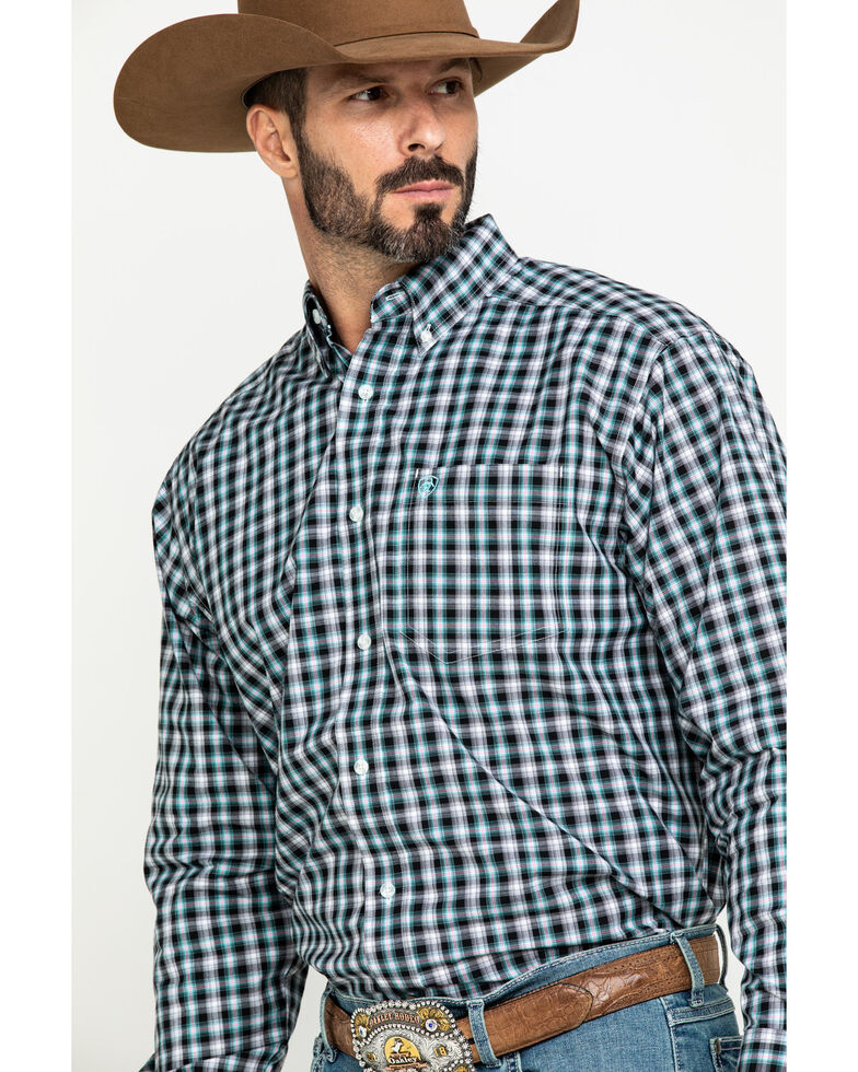 Ariat Men's Keene Multi Plaid Long Sleeve Western Shirt - Tall , Multi, hi-res