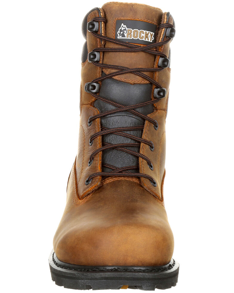 "Rocky Men's Governor Waterproof 8"" Work Boots - Composite Toe, Brown, hi-res"