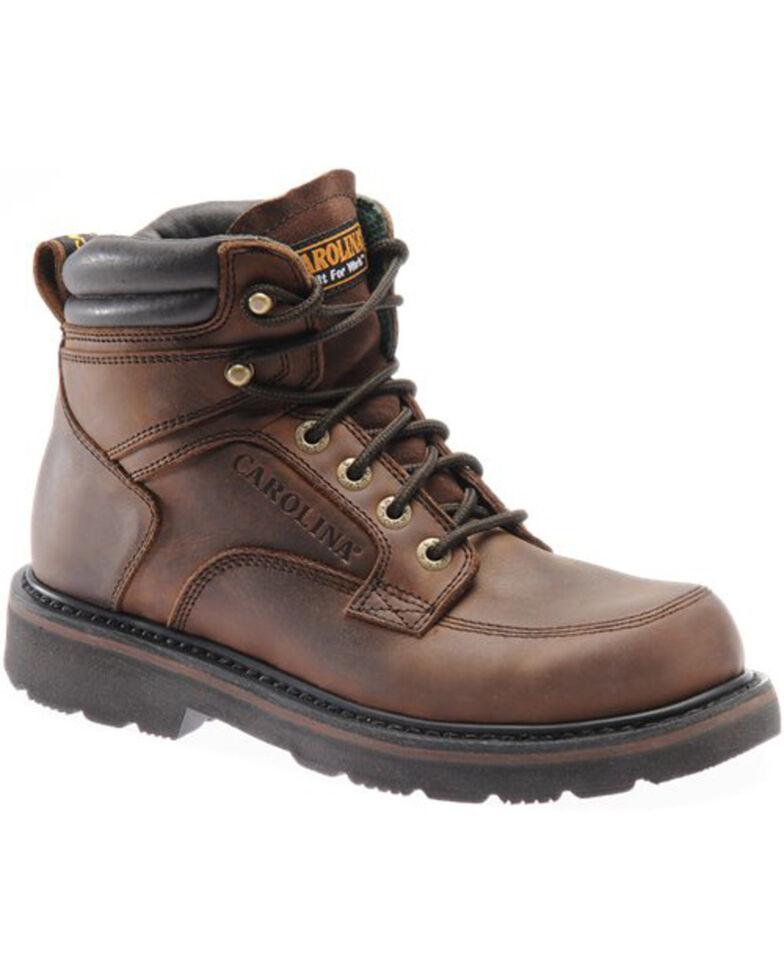 "Carolina Men's 6"" Broad Steel Toe Work Boots, Brown, hi-res"