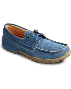 Twisted X Men's Blue Driving Moccasins , Blue, hi-res