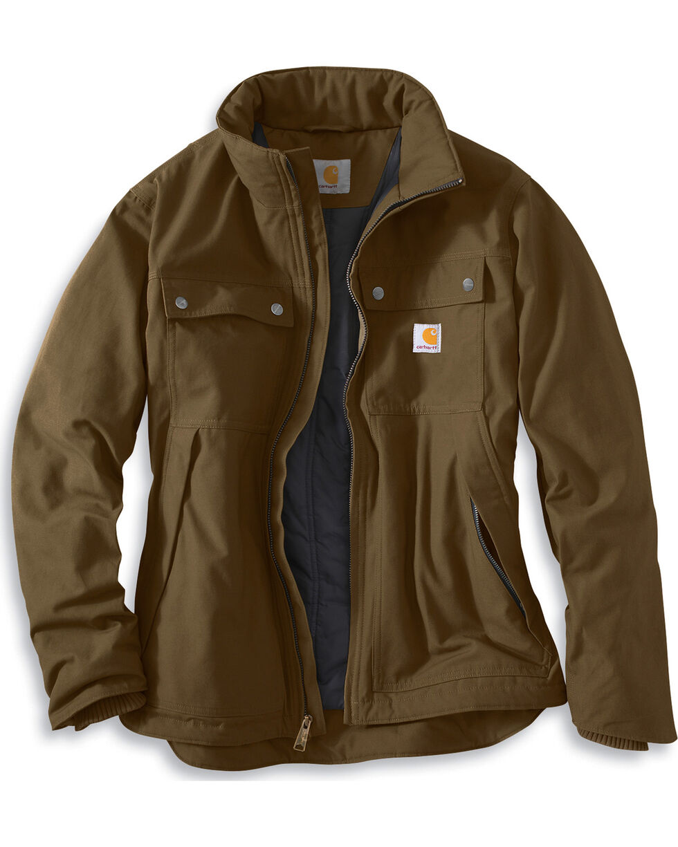 Carhartt Men's Jefferson Traditional Jacket, Brown, hi-res