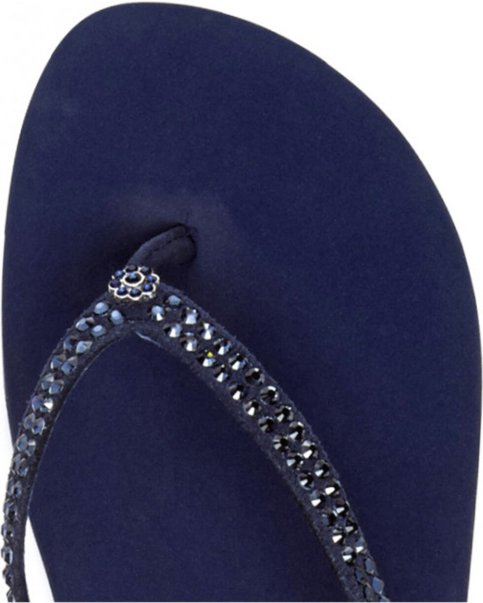 Yellow Box Women's Blue Jello Jeweled Sandals , Blue, hi-res