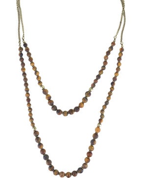 Shyanne Women's Multi-Strand Necklace, Brown, hi-res