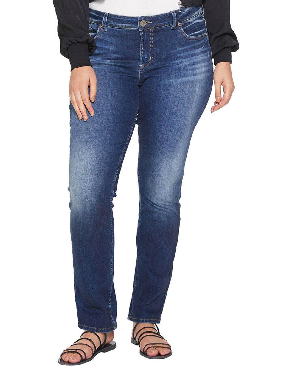Silver Women's Elyse Dark Wash Straight Jeans - Plus Size, Indigo, hi-res