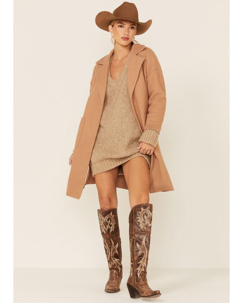 Sadie & Sage Women's Camel All Along Coat , Camel, hi-res