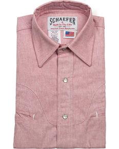 Schaefer Outfitter Men's Red Vintage Chisholm Chambray Shirt , Light Red, hi-res