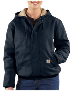 Carhartt Women's Active Flame-Resistant Work Jacket, Navy, hi-res