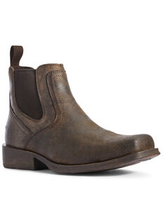 Ariat Men's Midtown Rambler Stone Chelsea Boots - Square Toe, Black, hi-res