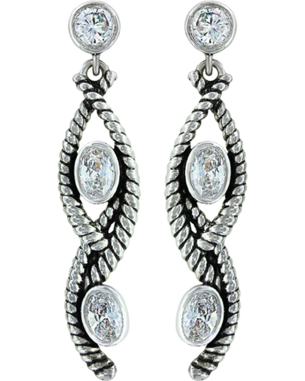 Montana Silversmiths Women's Skipping Along Earrings, Silver, hi-res
