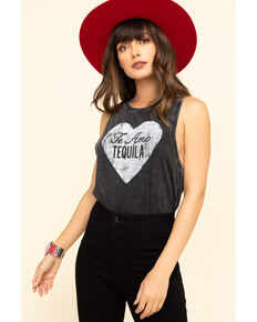 White Crow Women's Te Amo Tequila Muscle Tank Top, Charcoal, hi-res