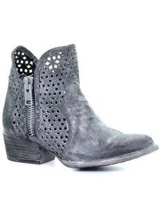 Corral Women's Grey Cutout Fashion Booties - Round Toe, Grey, hi-res
