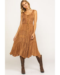 254ba68e1ca Scully Women s Lace-Up Jacquard Dress